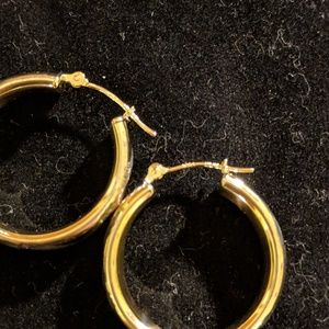 Jewelry - 14k vermeil diamond cut hoops